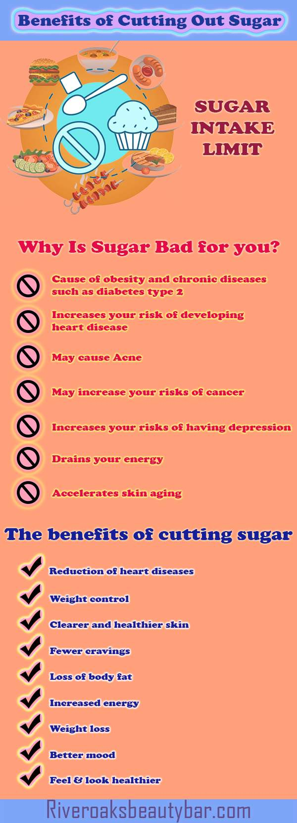Benefits of Cutting Out Sugar Infographic