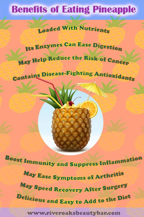 Benefits of Eating Pineapple infographic